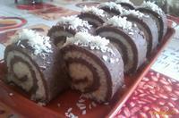 Рецепт Шоколадно-кокосовый рулет рецепт с фото
