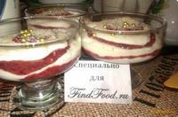 Рецепт Слоеный бело-розовый десерт рецепт с фото