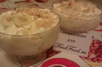 Рецепт Банановый десерт с мороженым и печеньем рецепт с фото