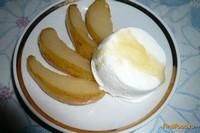 Рецепт Запечённая груша с пломбиром рецепт с фото