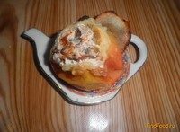 Рецепт Запеченные яблоки с творогом и изюмом рецепт с фото