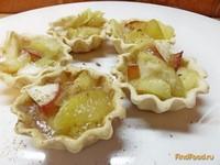 Рецепт Тарталетки со сливками и яблоками рецепт с фото