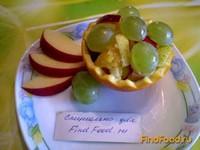 Рецепт Фруктовый салат в корзинке рецепт с фото