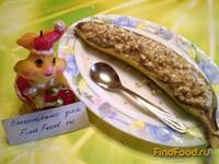Рецепт Десерт творожно-банановый с орехами рецепт с фото
