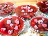 Рецепт Кисель вишнёво - малиновый с ягодами рецепт с фото
