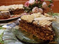Рецепт Вафельный торт по новому рецепт с фото