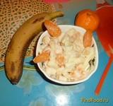 Рецепт Фруктовый салатик с кефиром рецепт с фото