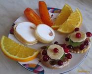 Рецепт Десерт из печенья и фруктов рецепт с фото