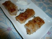 Рецепт Мини-пирожки из рисовой бумаги с яблочной начинкой рецепт с фото