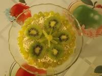 Рецепт Творожный десерт с фруктами и виноградом рецепт с фото