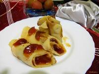 Рецепт Блины с персиками рецепт с фото