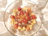 Рецепт Творожно-шоколадный десерт с яблоком и печеньем рецепт с фото