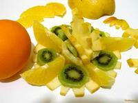 Рецепт Салат фруктовый с апельсином и яблоком рецепт с фото