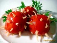 Рецепт Помидоры маринованные с чесноком рецепт с фото