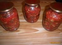 Рецепт Салат с фасолью на зиму рецепт с фото