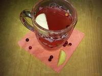 Рецепт Чай бруснично-яблочный рецепт с фото