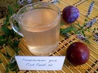Рецепт Сливовый компот с мятой рецепт с фото