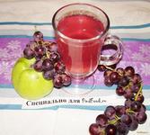 Рецепт Компот из яблок и винограда рецепт с фото