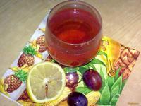 Рецепт Бруснично-сливово-лимонный компот рецепт с фото