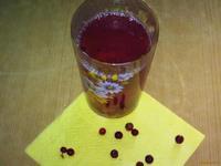 Рецепт Компот бруснично-персиковый рецепт с фото