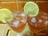 Рецепт Коктейль на основе Мартини со вкусом грейпфрута рецепт с фото