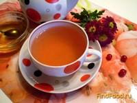 Рецепт Чай с лепестками календулы и соком калины рецепт с фото