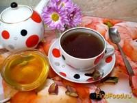 Рецепт Черный чай с мятой и рябиной рецепт с фото