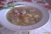 Рецепт Картофельный суп со свининой и зеленым горошком рецепт с фото