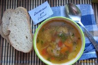 Рецепт Суп с фрикадельками и овощами рецепт с фото
