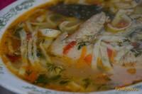 Рецепт Супчик с домашней лапшой и курицей рецепт с фото
