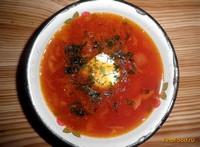 Рецепт Постный борщ с фасолью рецепт с фото