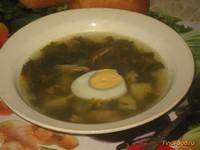 Рецепт Куриный суп с щавелем рецепт с фото