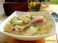Рецепт Украинский куриный суп с галушками рецепт с фото