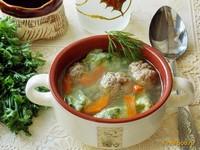 Рецепт Суп с клецками из шпината и фрикадельками рецепт с фото