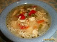 Рецепт Рисовый суп с куриной грудкой и овощами рецепт с фото