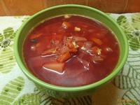 Рецепт Борщ из печеных овощей рецепт с фото
