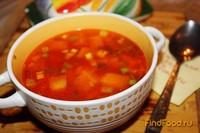 Рецепт Томатный суп с тыквой и курицей рецепт с фото