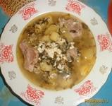 Рецепт Зеленый борщ на свиных ребрышках рецепт с фото