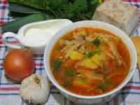 Рецепт Борщ с салом и чесноком рецепт с фото