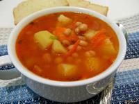 Рецепт Томатный суп с фасолью рецепт с фото