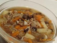 Рецепт Грибной суп с чечевицей рецепт с фото