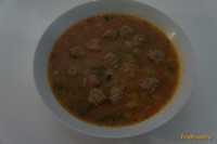 Рецепт Томатный суп с фрикадельками и овощами рецепт с фото