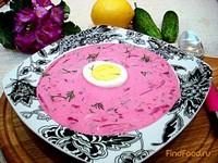 Рецепт Холодный борщ по-литовски рецепт с фото