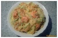 Рецепт Салат с фунчозой и креветками рецепт с фото