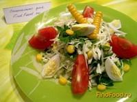 Рецепт Капустный салат с рисовым уксусом и перепелиными яйцами рецепт с фото