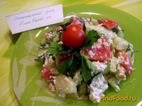 Рецепт Овощной салат с творожной заправкой рецепт с фото