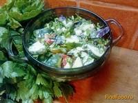 Рецепт Овощной салат с чесноком рецепт с фото