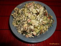 Рецепт Салат нежный с крабовым мясом и морской капустой рецепт с фото