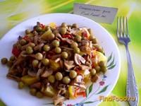 Рецепт Овощной салат с грибами и перцем чили рецепт с фото