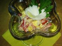 Рецепт Салат с кальмаром и кукурузой рецепт с фото
